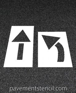 2 piece arrow stencil