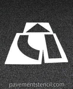 3 piece arrow stencil