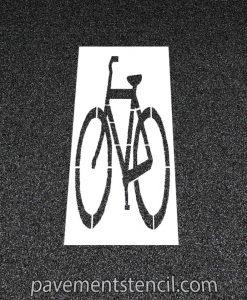 Bike symbol stencil