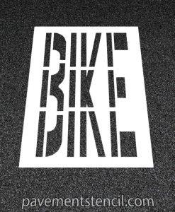 "48"" bike word stencil"