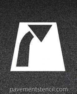 Curved arrow stencil
