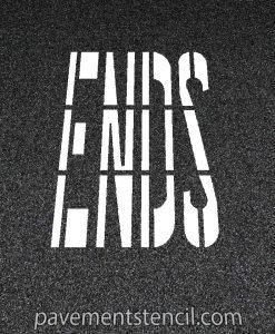Ends word stencil