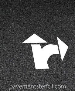 3 piece split arrow stencil