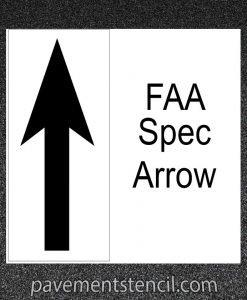 FAA Spec Arrow stencil
