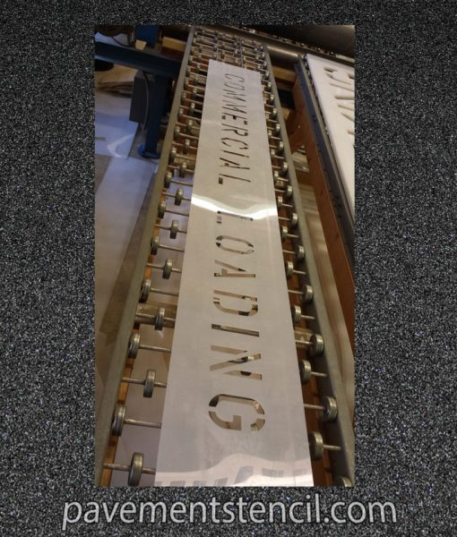 Commercial Loading custom stencil