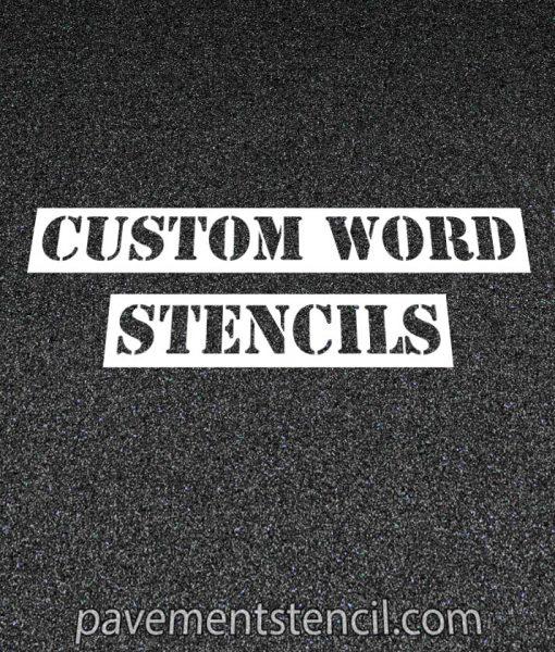 Custom word stencils