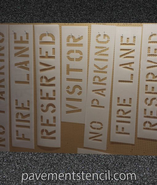 Common parking lot word stencils
