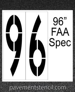 "96"" FAA Spec stencil"