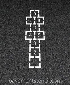 Traditional Hopscotch stencil
