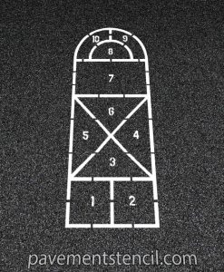 Cathedral hopscotch stencil