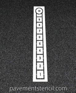 Hopscotch line stencil