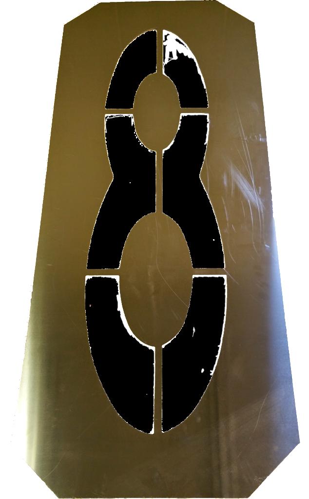 Number 8 aluminum stencil