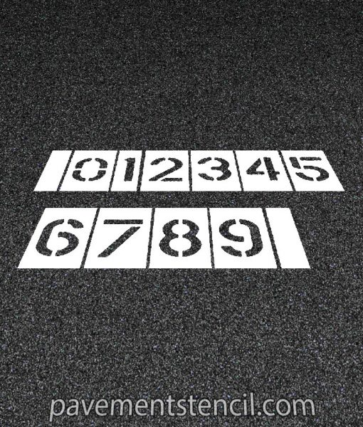 Parking lot number stencils