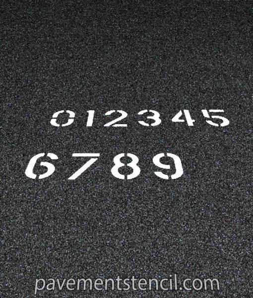 Set of number stencils