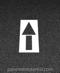 Lowe's straight arrow stencil