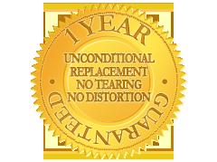 1 Year Unconditional Guarantee