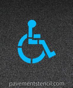 """39"""" handicap logo stencil on pavement"""