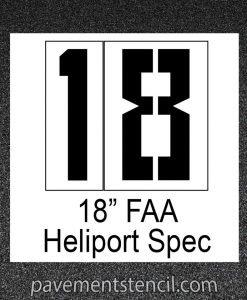 """18"""" Heliport FAA stencil"""