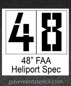 """48"""" Heliport FAA stencil"""