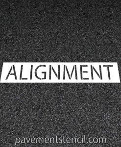 Jiffy Lube alignment stencil