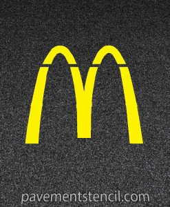McDonald's Arch Stencil