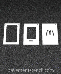 McDonald's curbside app stencil